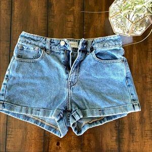 Pacsun denim mom shorts!